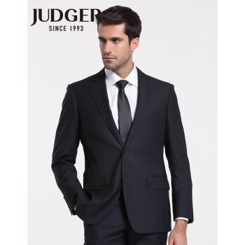 庄吉スーツ男性ビジネス純色ウール正装スーツ上着中年ビジネススーツ黒180/54 C
