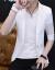 青年の半袖のスーツの男の夏の日よけの服は身を修めて透かして小さいスーツの中で袖のシフォンの服は薄くて空気を通します。