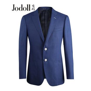 JODOLLジョートンメーズ単西韓式修身ファッションビジネス略装男性桑蚕糸ウール小さいスーツJ 091 B 91338ブルー52 B