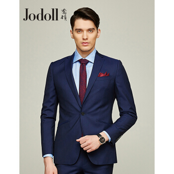 JODOLLジョートンスーツスーツスーツ男性ビジネススーツスーツスーツ男性韓国式修身ウールの小さいスーツJ 081 X 13810-62ブルー52 A