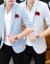 プレイボーイPLAYBOY夏男性は薄手の中袖ブレザーおしゃれ韓国式青年七分袖スーツ男性半袖ブレザー浅灰色XL