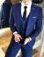 公式の規格品、韓利郎メーズ秋冬新作男性スーツ3点セットスーツスーツスーツスーツスーツスーツ修身青年男メーン旗艦店黒灰色4 XL