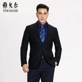 アイゴアスーツ男性2019春青年男性スーツYXB 2790 AHYブラック175/96 A