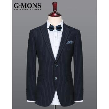 ジヨンモン(G・MONS)スーツ男百合縞一重スーツスーツスーツ小さいスーツの上着を修繕します。西色のスーツの上着【48サイズ170/88 Y】
