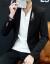 札若男性スーツ男性春のスーツ姿おしゃれカッコイイ上着単品韓国風刺繍小さいスーツ男性8209黒L