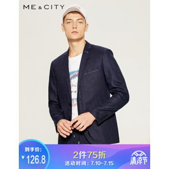 折衷MECITY mensリネンスーツ536289紺色185/104 B