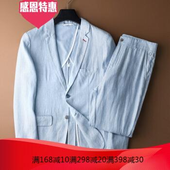 ジャック男ジョーンズ2019青春ファッション略装スーツ男性韓国式修身青年刺繍小スーツのリンネルコートのメーズHX 1825スーツセットXL