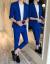 スーツ男性2019夏新品のメンズスファッションは、シンプルで純色の七分袖スーツ九分ズボンスーツ男性黒:着ているS:はい