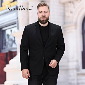 KRAALLDAは軽奢ブランドの2019夏の新品男性を乗せてスーツの上着を少し詰めます。サイズを大きくして、上着をシングルにして、ゆったりしています。