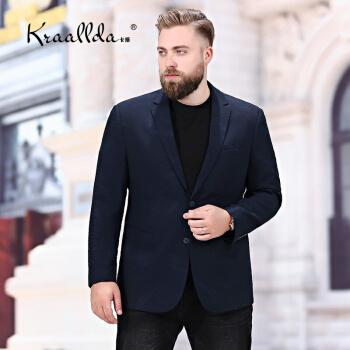 KRAALLDAは軽率で贅沢なブランドの男性の新品に乗ります。肥大を加えて、ゆったりとした太った人のビジネスを少し詰めて、快適な韓国式の百組の西の無料パーマトップスは潮の中で青の200を隠します。