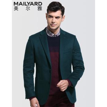 メルヤスーツ単品男性用ウールビジネス男性用スーツ男性用単品西上着301墨緑180/104 C(52 C)
