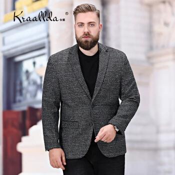 KRAALLDAは軽装ブランドの新商品に乗ります。大きいサイズのスーツのメンズ毛のラシャのコートを着ます。
