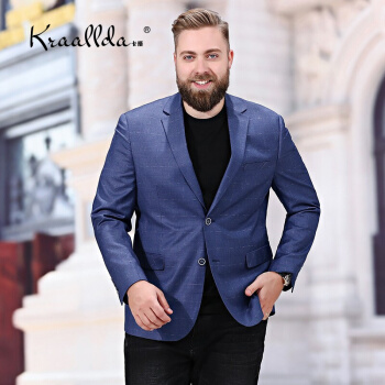 KRAALLDAは軽奢なブランドの新品の男性のスーツに乗ります。春の服装の快適さを高めます。ビジネス用の服装は少しゆったりしています。精緻な韓国風の単一の西の格子の外套は青190です。