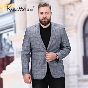 KRAALLDAに軽装ブランドの2019夏新品ビジネススーツの上着に太めのコートを合わせたゆったりとした男性用の西上着灰色190