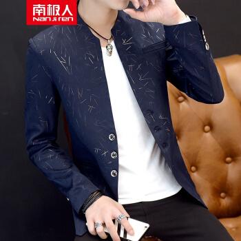 南极スーツ男春2019单西男小洋服韩国式修身小洋服は简単なビジネス男性用外套春秋蔵青2 XLです。