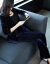 スーツスーツスーツ女性秋冬ファッション高級カシミヤ年会スーツ2点セットの紺色のベルトをプレゼントします。