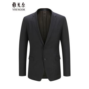 Youngor/ヤゴール男性のスーツを少し詰めます。男性はウールを含んでいます。夏の新品男性の西私服ビジネス略装は170/96 Aです。