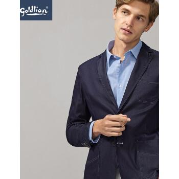 金利来2019春夏新品男性綿混紡、快適な打色車ラインの多ポケットを着用してスーツのコートを少し詰めました。