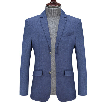 キラキラビッグサイズスーツメンズ秋冬新品男性加肥増大サイズスーツデブスーツ大盛りコート深青7 XLが似合います(240-240斤)