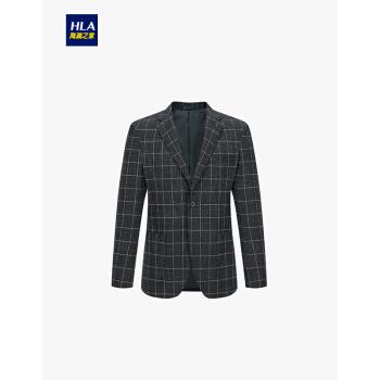 HLA海澜の家平装洋服2019秋新品紳士格紋単西外套男HWXAD 3 R 424 A黒チェックE 2 180/100 B