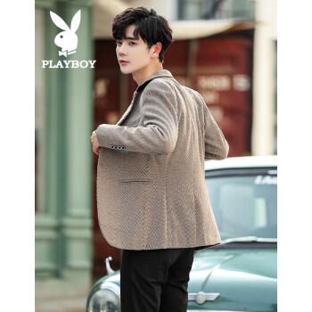 プレイボーイ/PLAYBOYスーツ男性2019新品韓国式男性スーツファッション青年百合平服上着カーキ色L