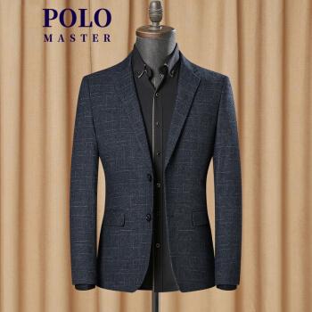 Master Poloスーツ男性米パウロ秋新作ビジネススーツ男性青年単西式修身ファッション上着黒4123/46