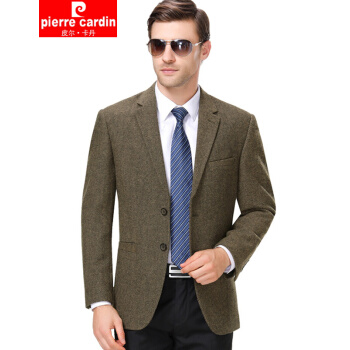 ピルカダンのオフィシャル旗艦店メンズのユニセスの上着2019年秋冬の新作スーツ男性のウールは厚手のコート男性を少し詰めて身を修めます。西の小さいスーツは8623ダークブラウン(厚手のタイプ)165/Sです。