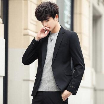 秋の男性はスーツ一式を身に着けます。韓国式ビジネススーツスーツスーツの上着です。