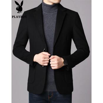 プレイボーイ2019秋冬新作スーツ男性コートはウールを正装しています。単西韓式修身おしゃれスーツはメーンズ黒Lです。