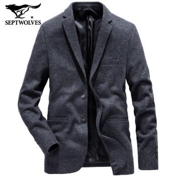 【前売り】7匹のオカミスーツ男性秋冬ウールコートビジネススーツを少し詰めたスーツスーツスーツスーツスーツスーツスーツスーツスーツスーツ単西潮002(黒灰)は12月15日ごろに発売されます。180/96 A/XXXX