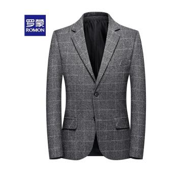 罗蒙(ROMON)スーツ男性2019新品の小さいスーツビジネスは少し身を装飾します。単西ジャケットの五色は8019の深い灰色の185/2 XLが選べます。