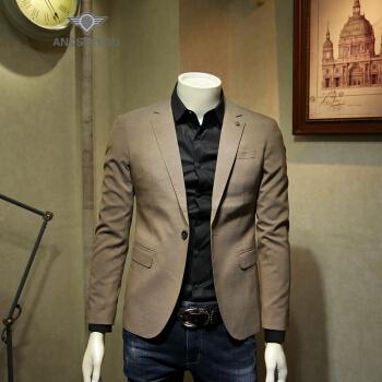 ANDSEEYOU潮ブランドの逸品韓国式の小さいスーツ秋冬青年の単に西のオーバーの男性の英倫の風は身を修めます男性のスーツはビジネスを詰めて男性の上着を少し詰めます。