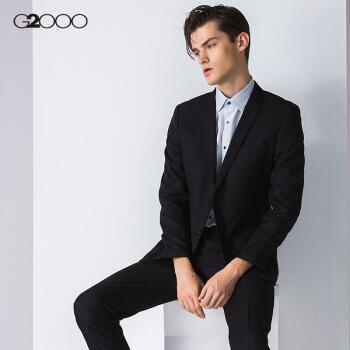 G 2000ビジネス男性スーツ外套春秋正装修身スーツ礼服00010021黒/99 50/175(52サイズは51サイズに相当)