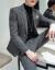 韓国式修身スーツスーツ男性青年ヘアスタイリストが少しかっこよくおしゃれ小さいスーツ英倫結婚ドレス灰色M