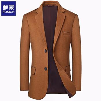 ロモンスーツ男性ビジネススーツは純色のウールですねスーツの中に青年服職業単西外套は黄色170/Mです。