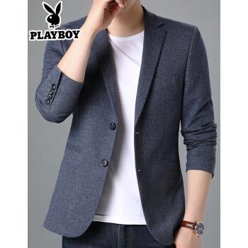 プレイボーイスーツ男性スーツスーツ男性は韓国風の男性用上着を少し詰めます。2020年春の新作の中、青年は小さいスーツを少し詰めます。8003 180。
