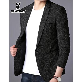 プレイボーイスーツの上着の男性は韓国式男性スーツの上着を少し詰めます。