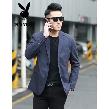 プレイボーイ(PLAYBOY)スーツを少し詰めました。男性は春夏薄スーツ単西ジャケット2020新品中青年スーツです。
