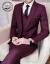 ワニのTシャツ男性2019新品スーツ男性3点セット職業修身正装新郎結婚礼服ビジネススーツ男性外套スーツ黒-単西L(105-120斤)