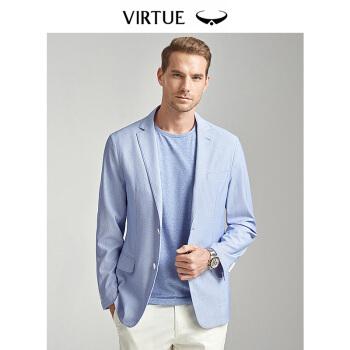 Virtue富绅の薄手のスツー男性は快适です。优しいスツーの上着FFB 3131 A 17水色50(180/96)