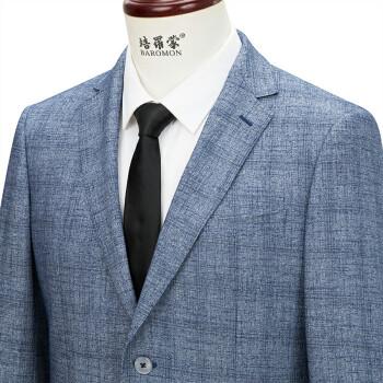 ペロモンススポーツ男性ビジネスト単西青灰色格子修身スィーツ灰色格子B版175