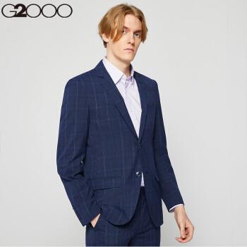 G 2000男性スツー英倫スタイの紋様修身スツーの外套00010141墨青/79 52/180