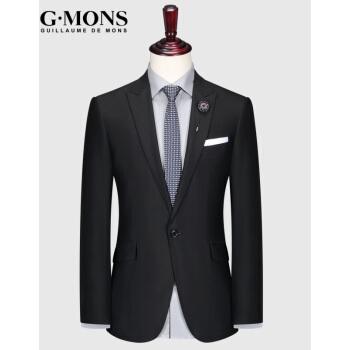 ジーヨンモン(G・MONS)ウールスーツ男性スーツ男性修身タイプ職業正装新郎結婚ドレスビジネススーツ上着百貨店同種のスーツ上着【46サイズ165/84 Y】