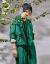 野無スーツ男性オリジナルデザインメンズ2020春新品少しストラップ長袖リネンスーツ男性外套コケグリーンL