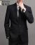 キツツキ(TUCANO)面接職業スーツ男性スーツ出勤ビジネススーツ気質夏スーツ男性は少しゆったりした薄手の黒【スーツ+ズボン+シャツ+ネクタイ】4点セットは5 XLが入っています。180-200斤に似合います。