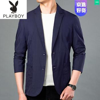 プレイボーイ(日よけオススメ)カップルの薄さジャケット男は夏はスーツビジネスコートがゆったりとしています。薄めの日焼け止めの服です。