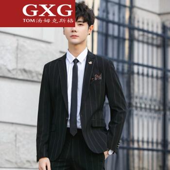 トームGXGイタリア国際軽贅沢ブランドメンズスーツ男性韓国式かっこいいオールマイティーなファッションチェックの小さいスーツ修身ビジネススーツスーツスーツスーツスーツは黒40/Lです。