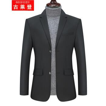 古莱登の大きいサイズのメーズのスーツのオーバーの男性のデブは韓国式の特大サイズのスーツの上着の2019年の春秋の新品の男性のビジネスの出勤する小さいスーツの5 X 6 X 7 X黒色の7 XLを少し詰めて240-240斤に適します