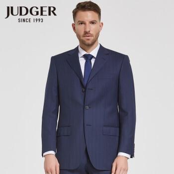 庄吉Judgerゆったりウールスーツ男性ビジネススーツストライプ出勤スーツ新品中年サイズメーズスーツ2点セットEサイズ94.1%ウール170/50 C注文します。ウエストとズボンのサイズをメモしてください。