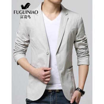 富貴鳥スーツ男性秋新品上着男性ビジネス少しファッションパーマフリー単品西韓式修身職業スーツ通勤スーツ白米M